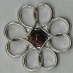 silver flower pendant 1