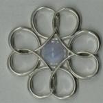 silver flower pendant 2