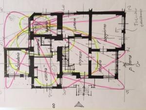 Il Bagua è stato tracciato sulla piantina di una casa